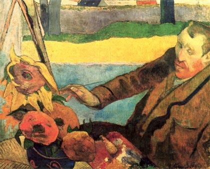 van-gogh-pintando_girasoles-autor-paul-gauguin